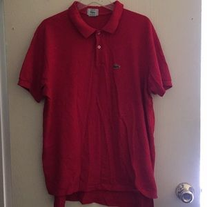 Lacoste red polo size xl